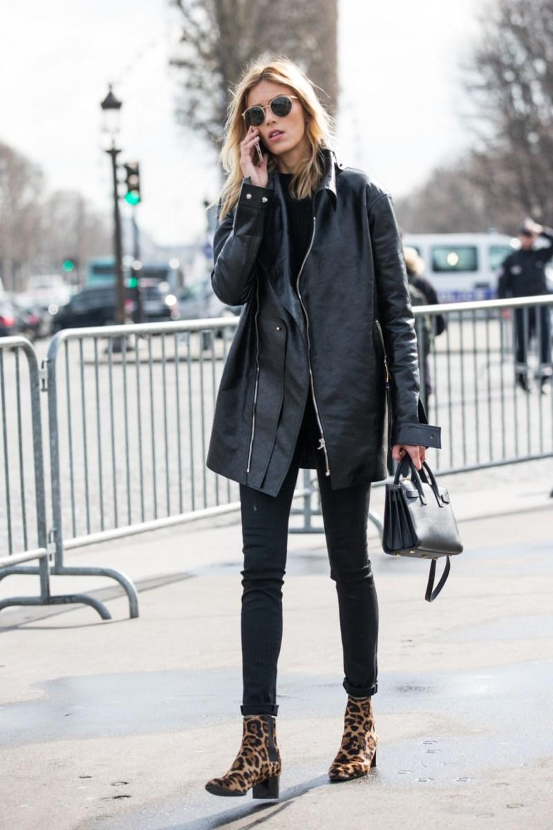 Leopard boots street style