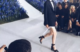 Model walking in Dior show 2016