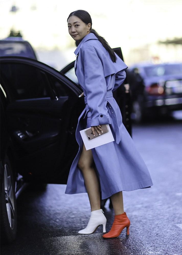 Celine mismatched boots