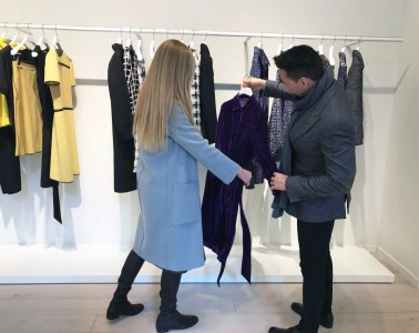 lisa marie mccomb and jesse garza go shopping in nyc