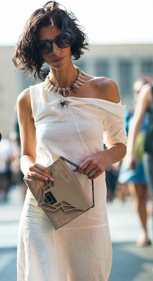 Layered necklaces street style