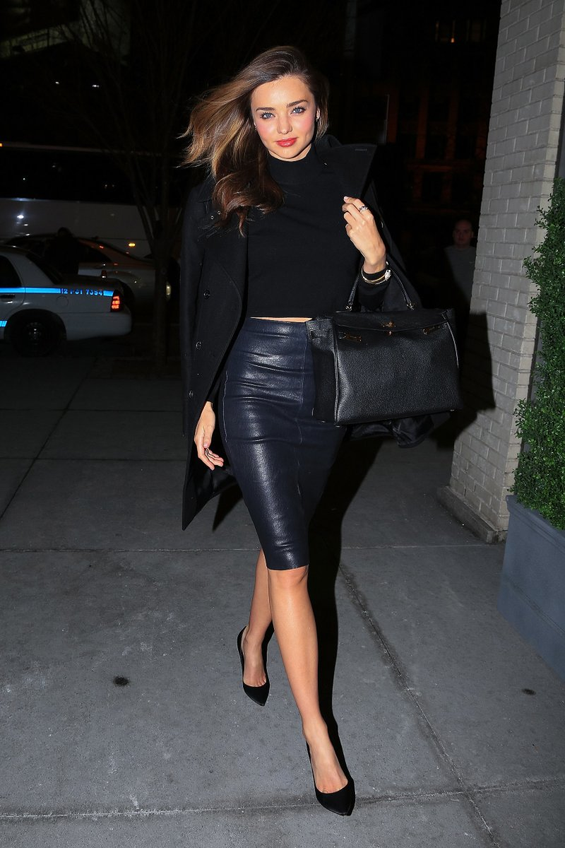 street style leather skirt