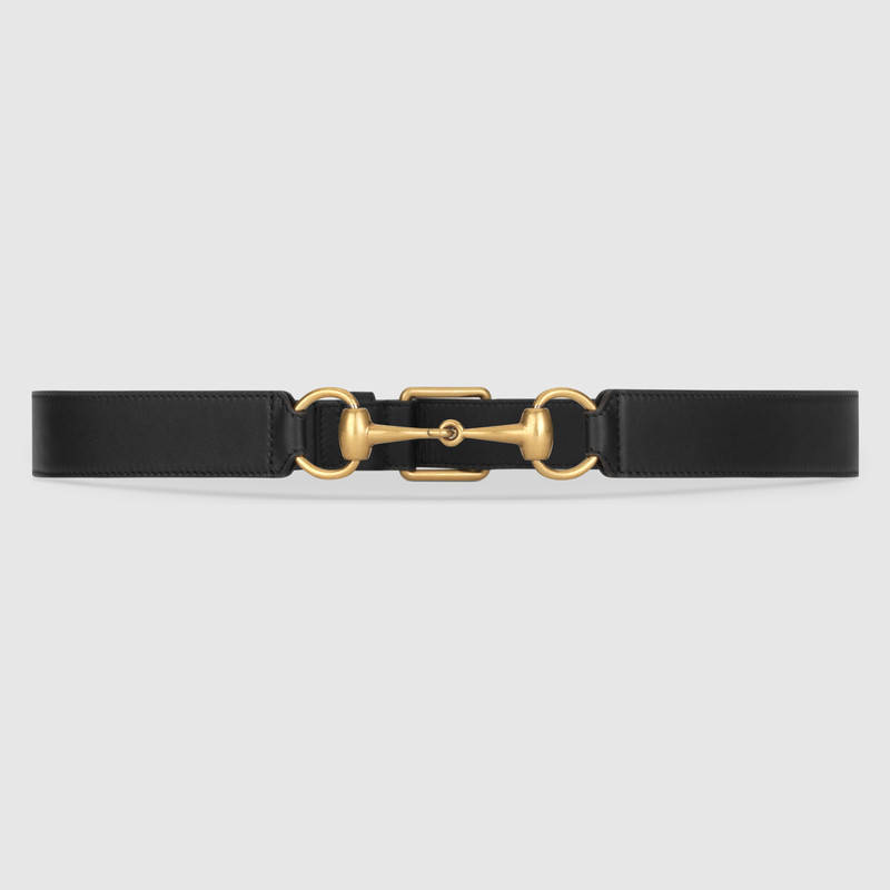 Horsebelt gucci black leather