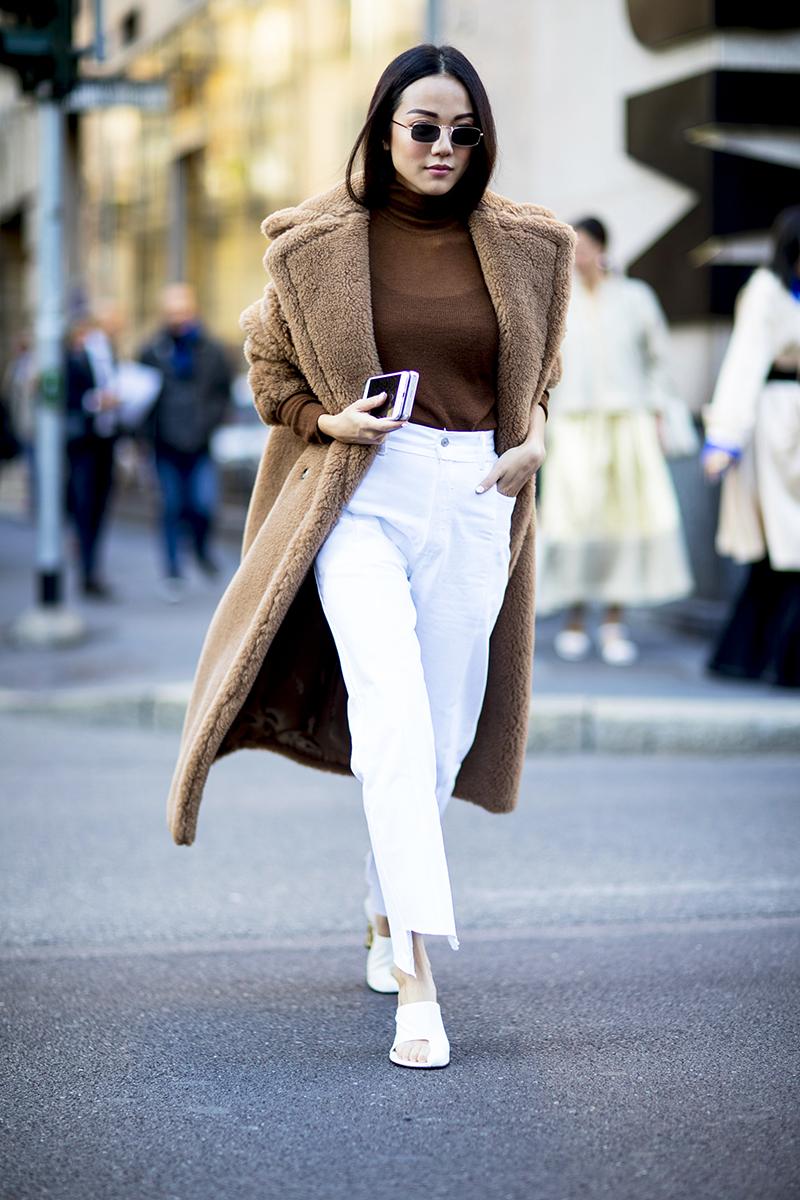 brown street style