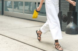 street style of girl wearing sandals