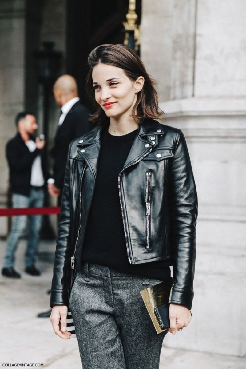 Leather Biker Jacket street style