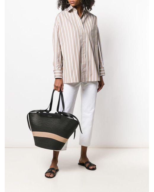 elena-ghisellini-black-Panelled-Shopper-Tote