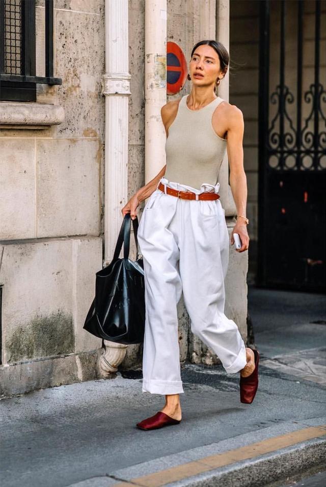 wide leg denim street style