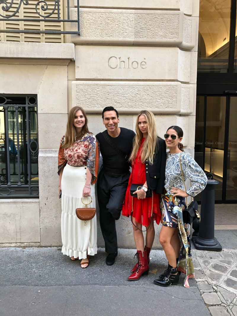Jesse Garza at Chloe showroom in Paris