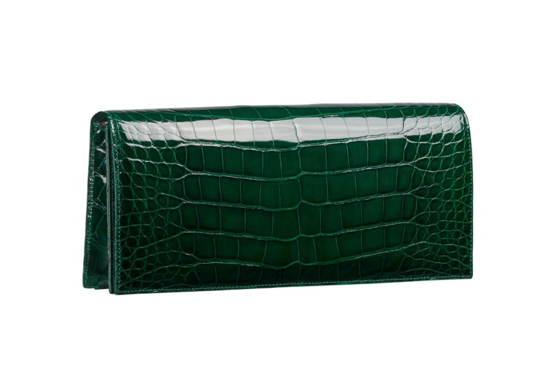 Dior crocodile clutch