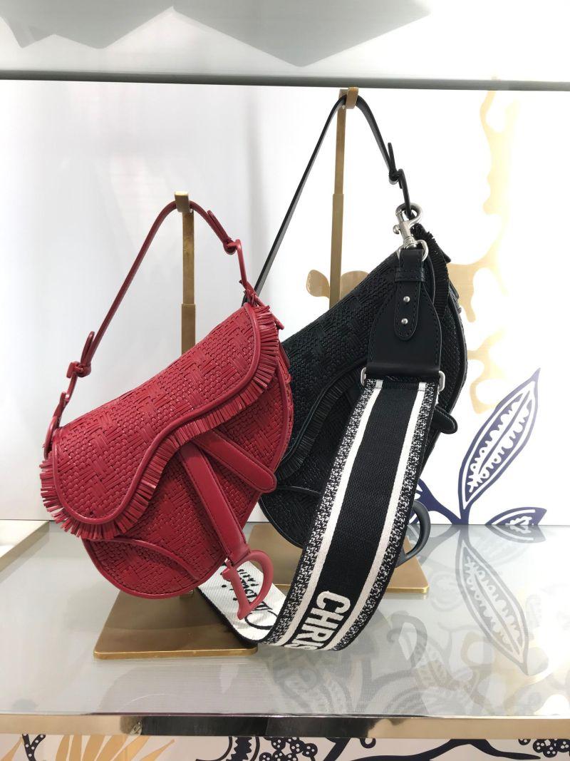 Dior woven saddle bag