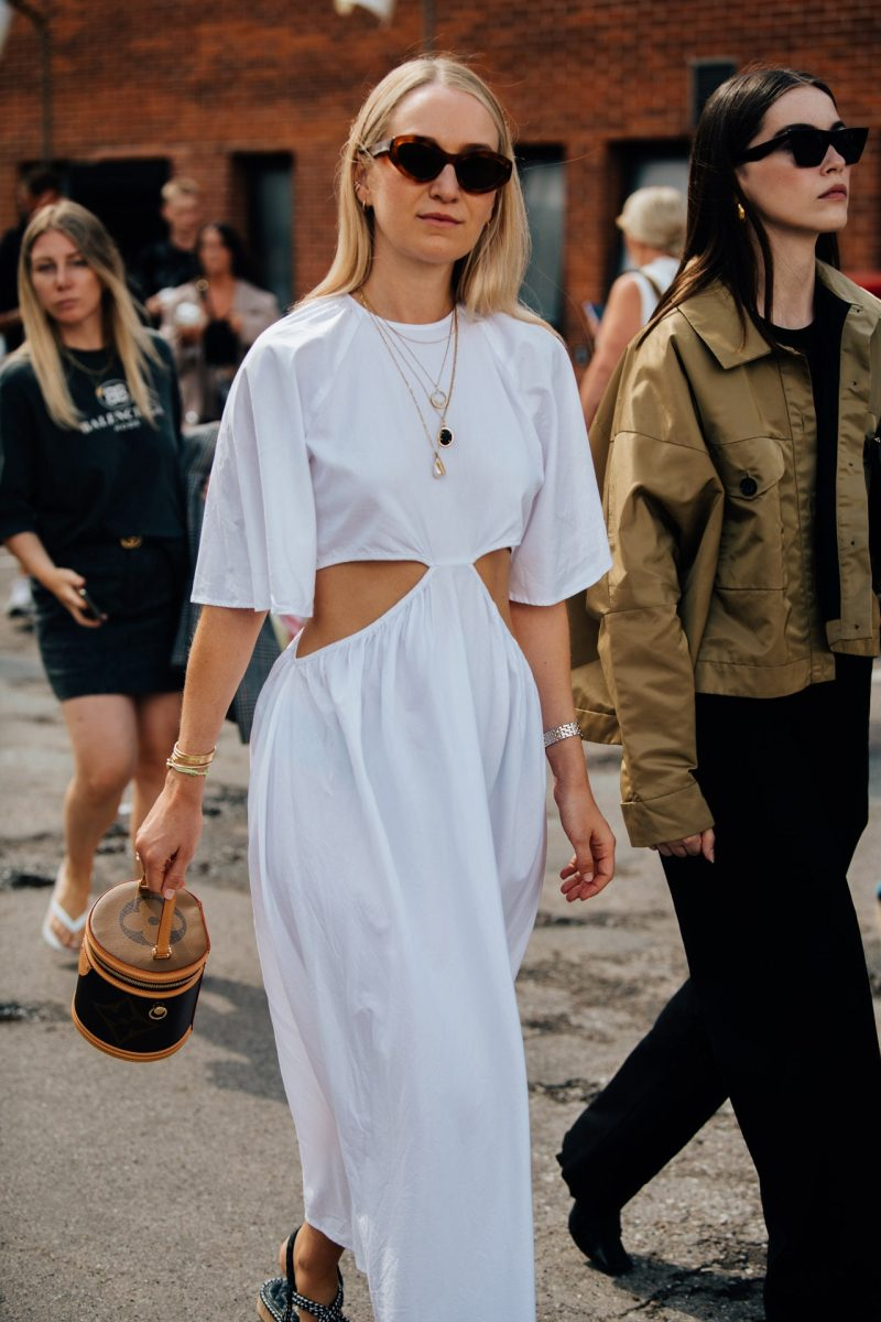 cut out dress street style