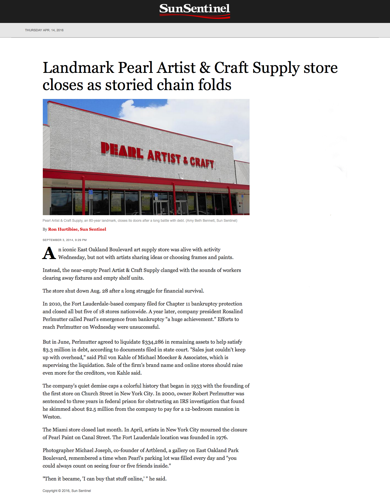 Sun Sentinal Landmark Pearl