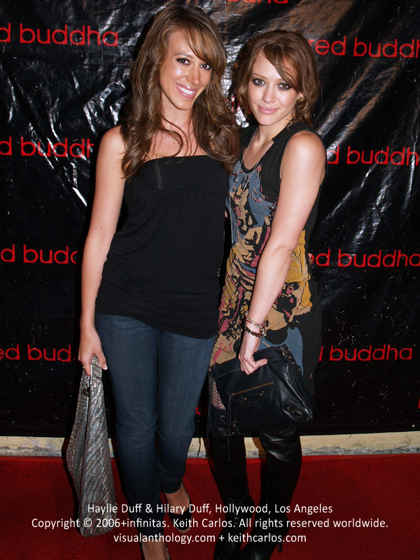 Haylie Duff & Hilary Duff - Red Buddha 1 Year Anniversary, Hollywood, Los Angeles, California - Copyright © 2006+infinitas. Keith Carlos. All rights reserved worldwide. visualanthology.com + keithcarlos.com