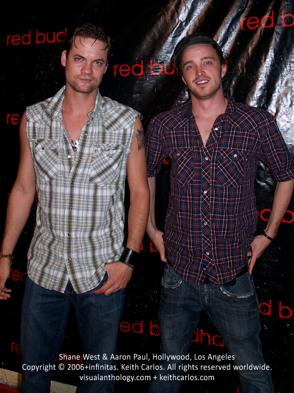Shane West & Aaron Paul - Red Buddha 1 Year Anniversary, Hollywood, Los Angeles, California - Copyright © 2006+infinitas. Keith Carlos. All rights reserved worldwide. visualanthology.com + keithcarlos.com