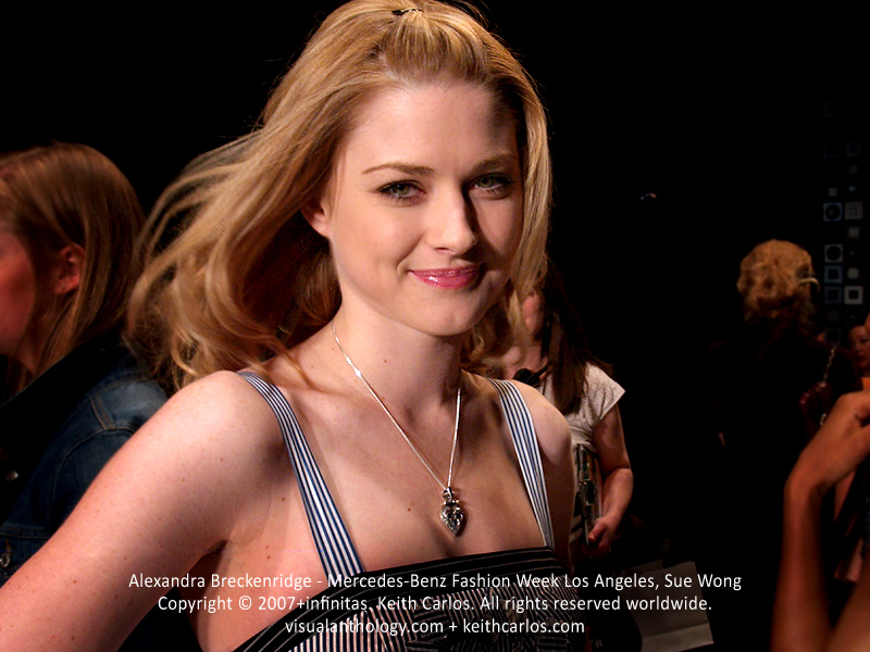 Alexandra Breckenridge - The Walking Dead, True Blood, American Horror Story, Dirt, Mercedes-Benz Fashion Week 2007 March, Sue Wong Fashion Show, Smashbox Studios, Los Angeles, California - Copyright © 2007+infinitas. Keith Carlos. All rights reserved worldwide. visualanthology.com + keithcarlos.com