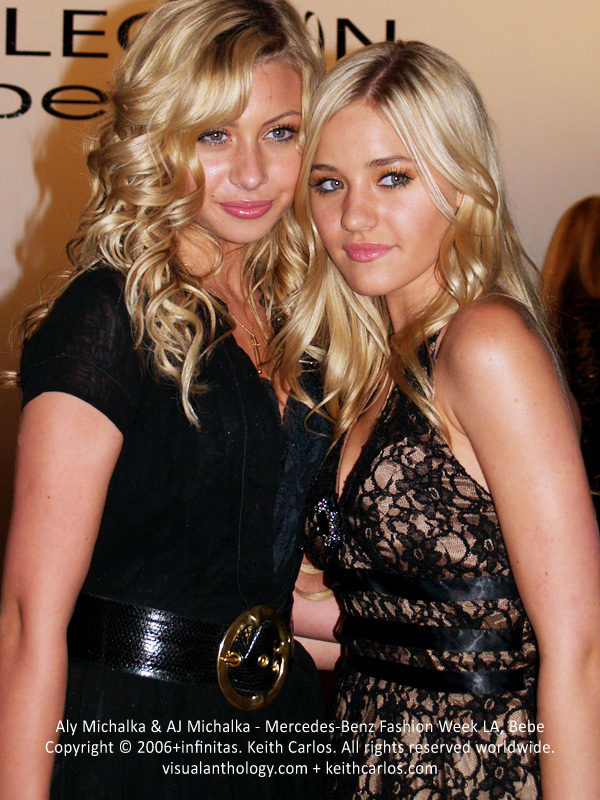 Aly Michalka & AJ Michalka - iZombie, Two and a Half Men, The Goldbergs, Super 8, Mercedes-Benz Fashion Week 2006 October, Collection Bebe Fashion Show, Los Angeles, California - Copyright © 2006+infinitas. Keith Carlos. All rights reserved worldwide. visualanthology.com + keithcarlos.com