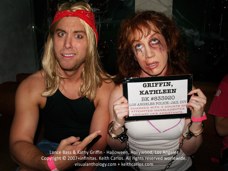Lance Bass & Kathy Griffin - Dancing with the Stars NSYNC, actress comedian TV host, Halloween, Hollywood, Los Angeles, California - Copyright © 2007+infinitas. Keith Carlos. All rights reserved worldwide. visualanthology.com + keithcarlos.com