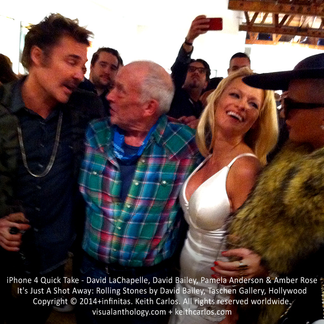 David LaChapelle, David Bailey, Pamela Anderson & Amber Rose - It's Just A Shot Away: Rolling Stones in Photographs by David Bailey, Taschen Gallery, Hollywood, Los Angeles, California - Copyright © 2014+infinitas. Keith Carlos. All rights reserved worldwide. visualanthology.com + keithcarlos.com