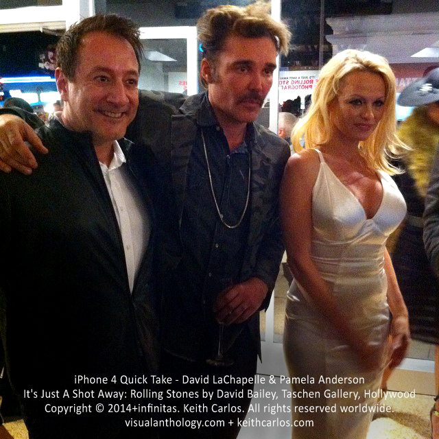 David LaChapelle & Pamela Anderson - Photographer; Baywatch, Dancing with the Stars; It's Just A Shot Away: Rolling Stones in Photographs by David Bailey, Taschen Gallery, Hollywood, Los Angeles, California - Copyright © 2014+infinitas. Keith Carlos. All rights reserved worldwide. visualanthology.com + keithcarlos.com