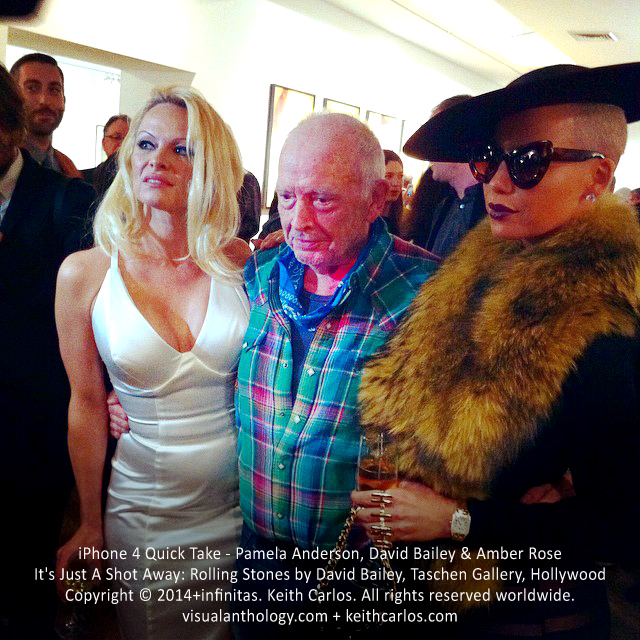 Pamela Anderson, David Bailey & Amber Rose - It's Just A Shot Away: Rolling Stones in Photographs by David Bailey, Taschen Gallery, Hollywood, Los Angeles, California - Copyright © 2014+infinitas. Keith Carlos. All rights reserved worldwide. visualanthology.com + keithcarlos.com