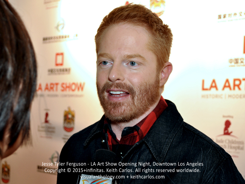 Jesse Tyler Ferguson - Modern Family, Ice Age: Collision Course, Ugly Betty; LA Art Show Grand Opening Night Red Carpet Press Reception Party, Convention Center Downtown Los Angeles, California - Copyright © 2015+infinitas. Keith Carlos. All rights reserved worldwide. visualanthology.com + keithcarlos.com