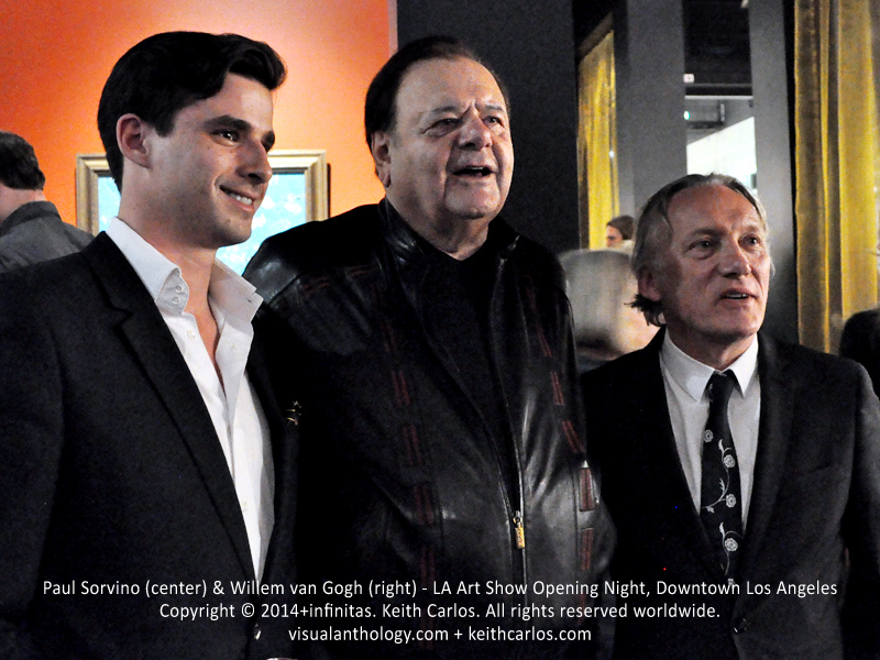 Paul Sorvino & Willem van Gogh - Grandfathered, The Goldbergs, Goodfellas, Law & Order; LA Art Show Grand Opening Night Press Reception Party, Convention Center Downtown LA, Los Angeles, California - Copyright © 2014+infinitas. Keith Carlos. All rights reserved worldwide. visualanthology.com + keithcarlos.com