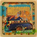 Midway - Collage Assemblage on wood - Keddy Ann Outlaw
