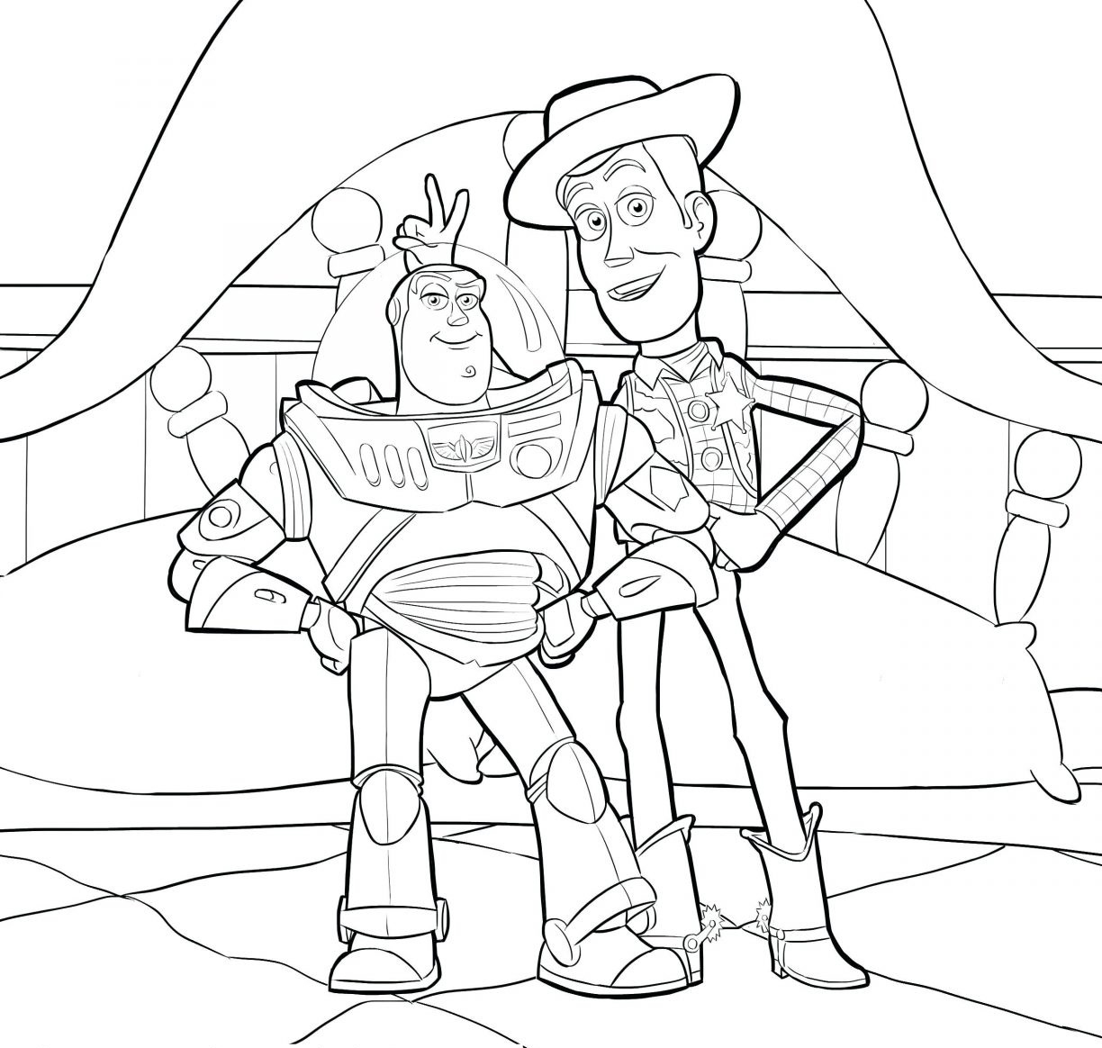 Toy Story 4 Coloring Pages Printable For Free