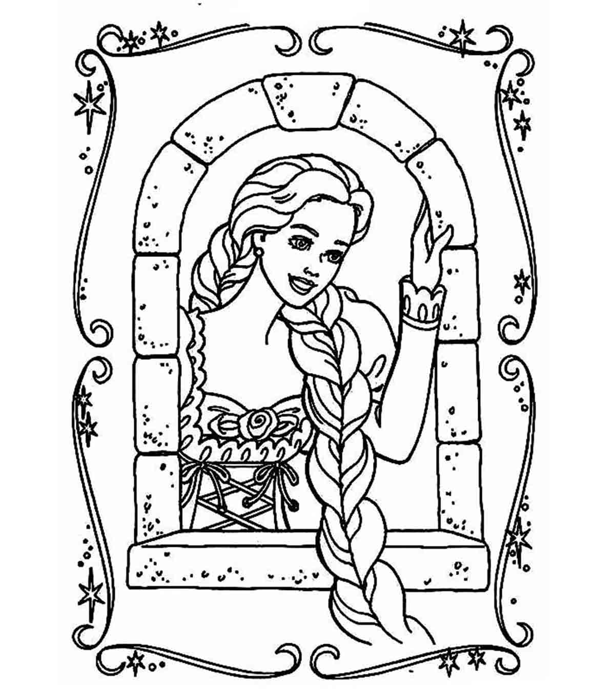 Rapunzel Coloring Pages For Kids