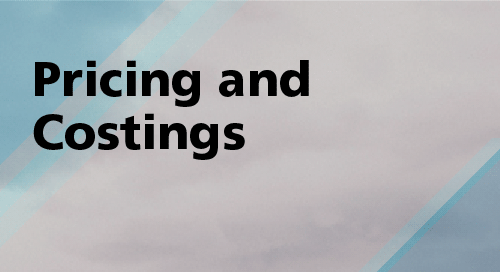 Regularly Asked Questions - Pricing and Costings