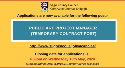 Job Vacancy | Public Art Project Manager with Sligo County Council