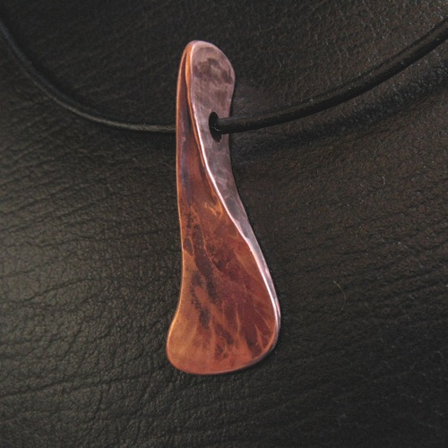 forged copper pendant