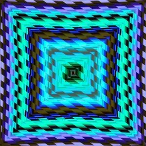 colorful glitch diagonal striped square