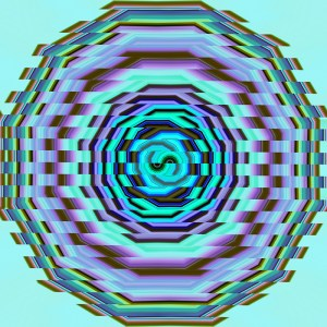 colorful glitch striped circle