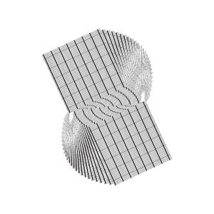 3d black and white grid graphic art element