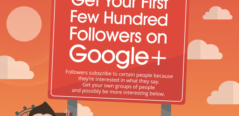 Get Your First Few Hundred Followers on Google+ [Infographic]