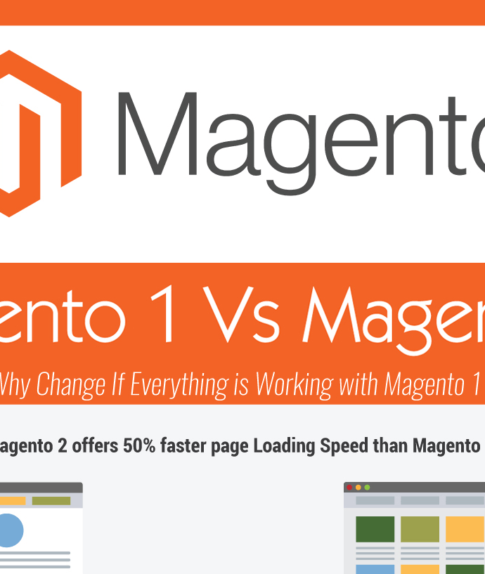 Magento 1 VS. Magento 2 – Why Change If Everything Is Working with Magento 1 [Infographic]