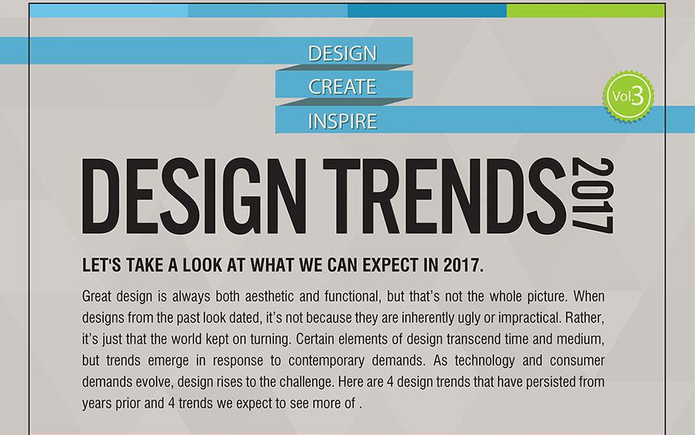 Design Trends 2017 [Infographic]