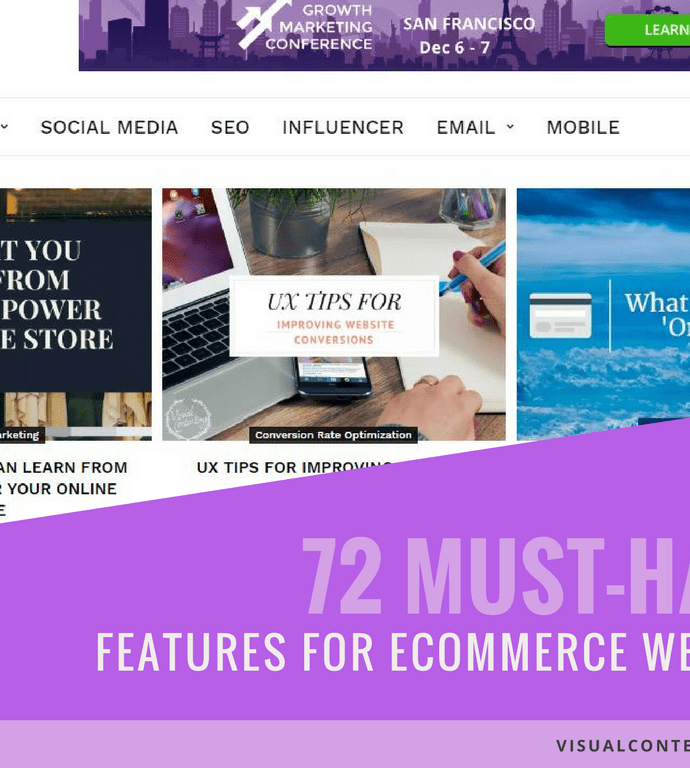 72 Must-Have Features for eCommerce Website [Infographic]