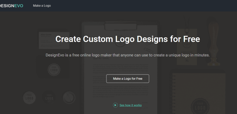 Make a Custom Logo with DesignEvo