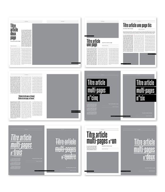 잡지, 책자 편집 디자인 레이아웃 그리드 샘플