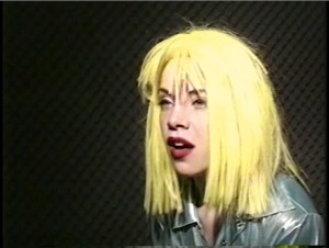 """Alex Bag, video still from """"Untitled Fall 95."""" From """"Come As You Are: Art of the 1990s."""" Alex Bag (born 1969, USA) Untitled Fall 95, 1995 57 min, color, sound Courtesy of Team Gallery and Electronic Arts Intermix (EAI), New York Alex Bag"""