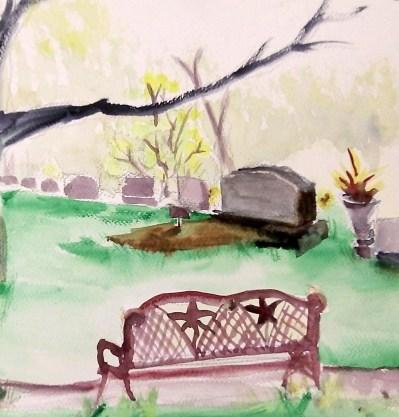 20130413 Cemetery Bench
