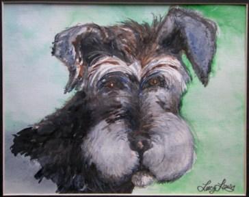 dog color sketch in watercolor