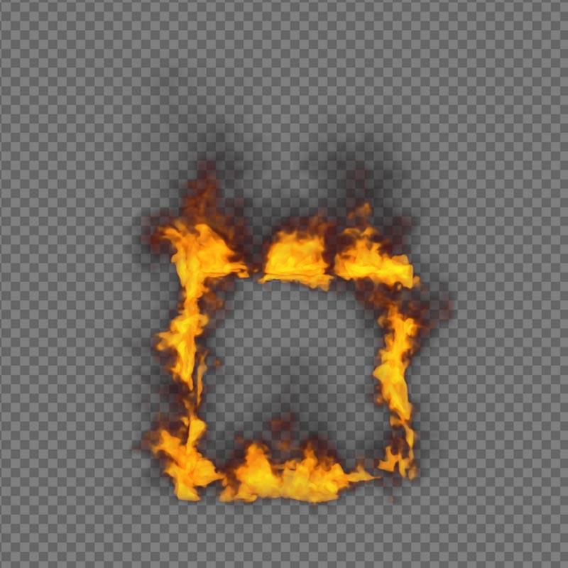 Window Fire - alpha channel