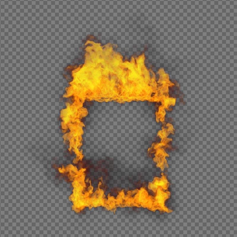 Window Frame Fire - alpha channel