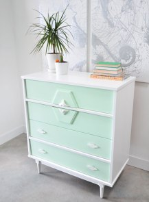 painted vintage furniture before and after