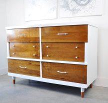 vintage dresser before and after