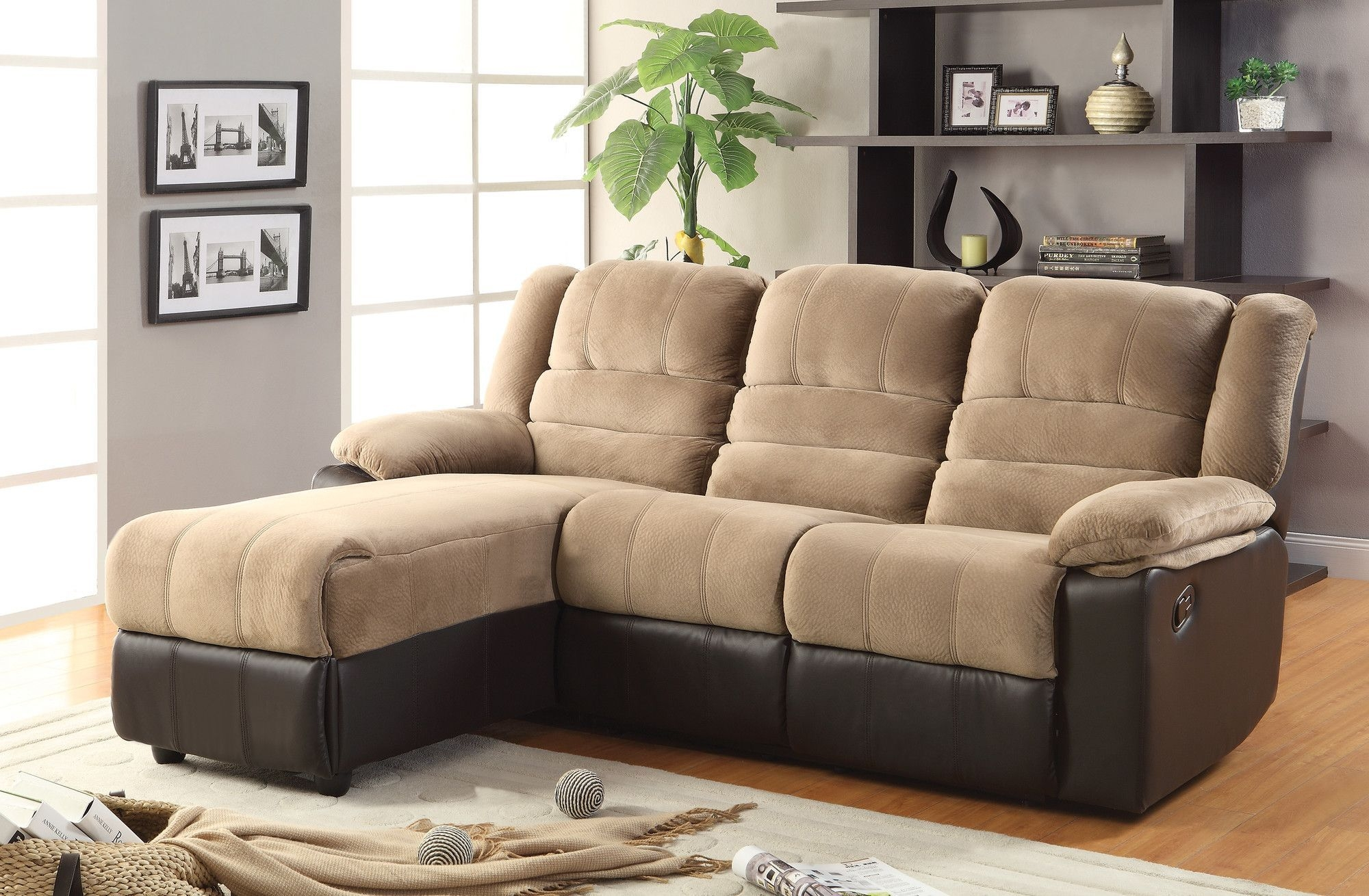 small sectional sofa with recliner you